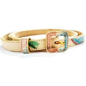 Burberry Hand-Painted Belt Grainy Leather Belt